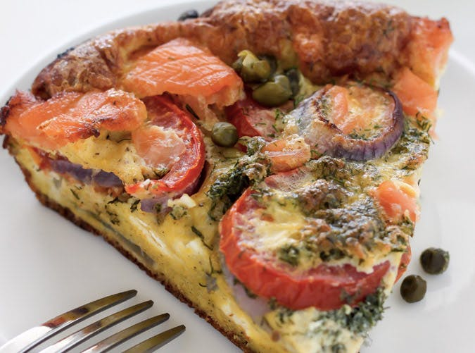 ketogenic breakfast fritatta smoked salmon recipe 501