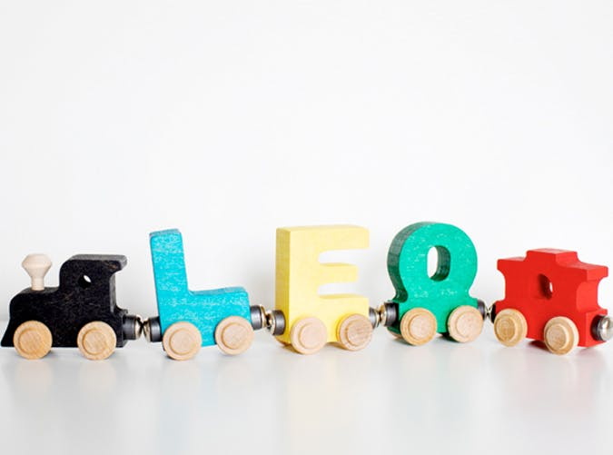 kids wooden name train 501