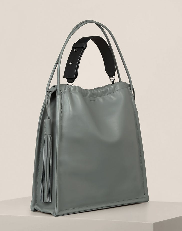 leather tote all saints