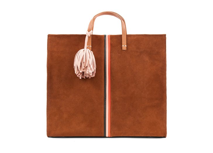 leather tote clare v