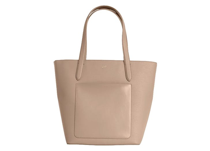 leather tote thedailyedited