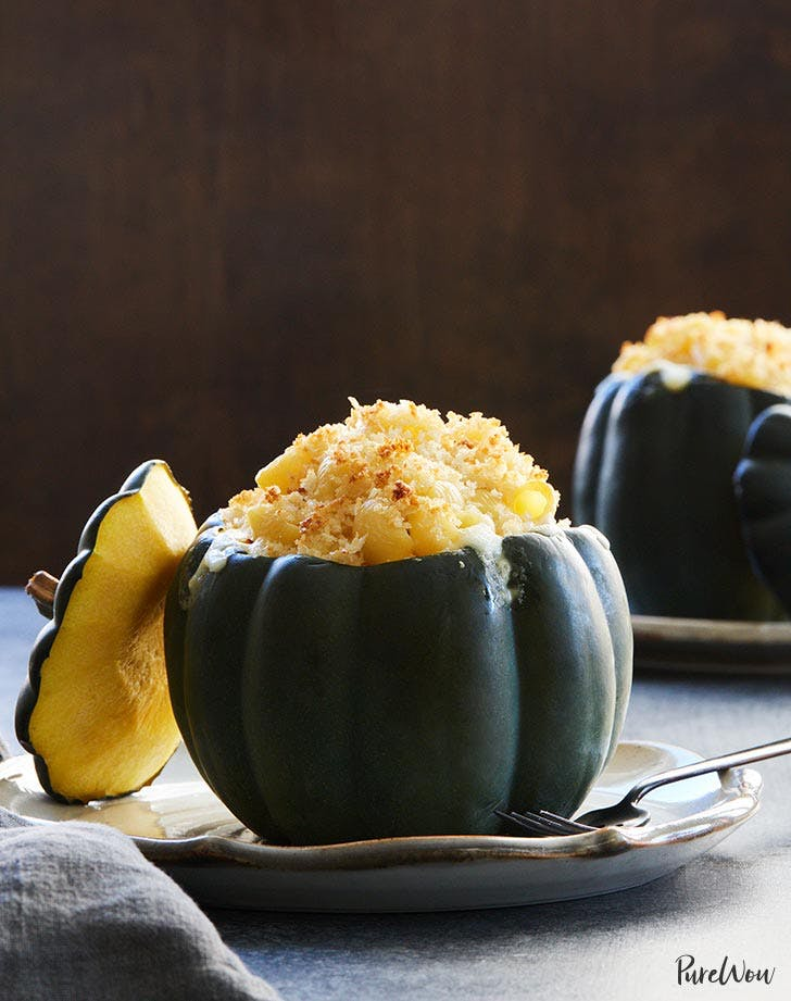 Macaroni and Cheese in Acorn Squash Bowls