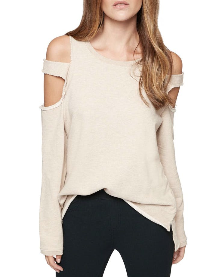 miami cold shoulder sweater