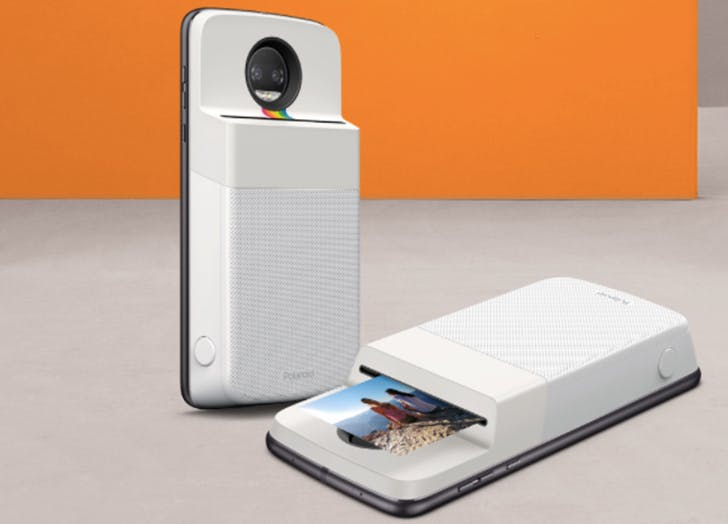 Important: Motorola Just Introduced a Polaroid Printer That Snaps onto the Back of Your Phone