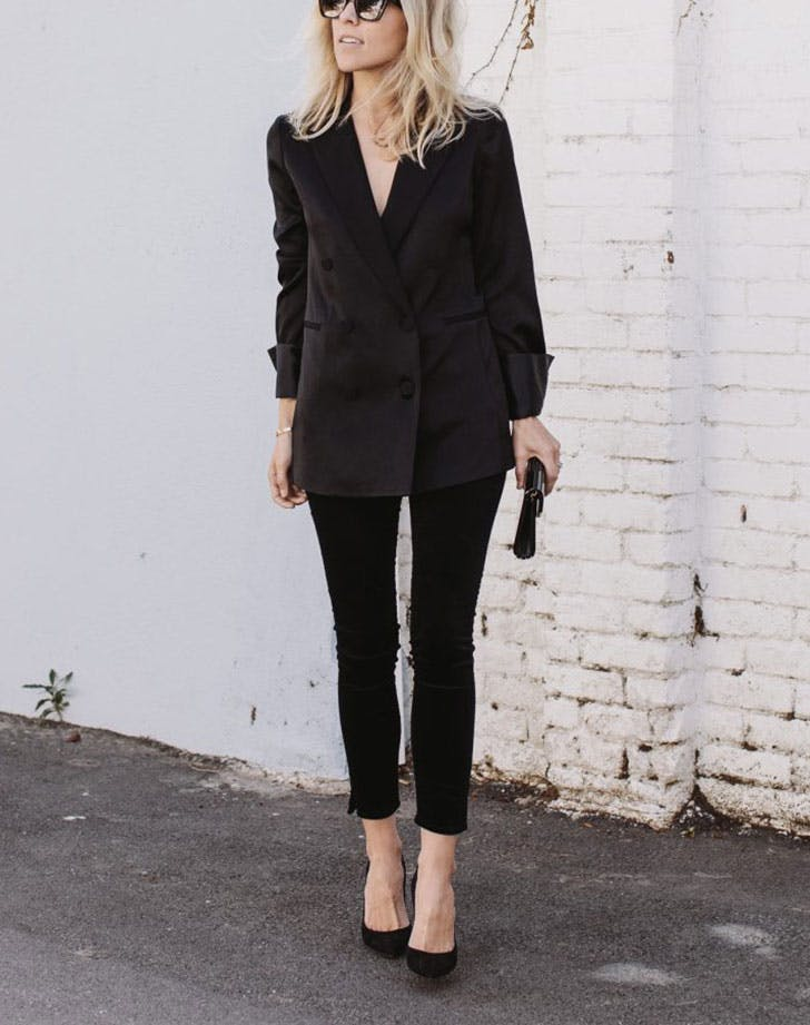 new years eve outfits black suit
