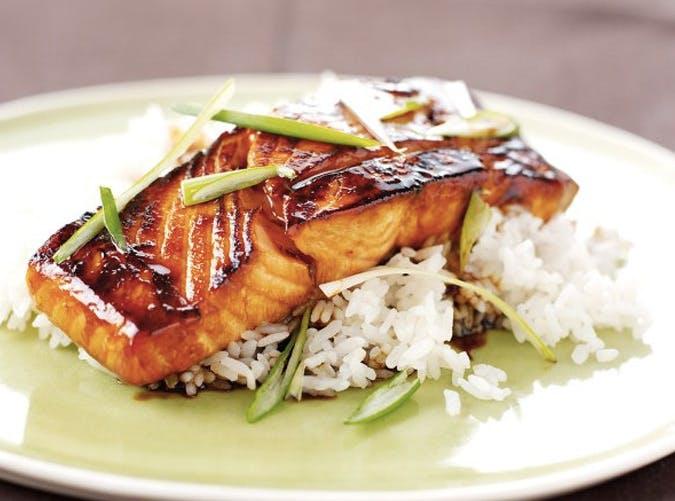 nigella lawson mirin glazed salmon 501