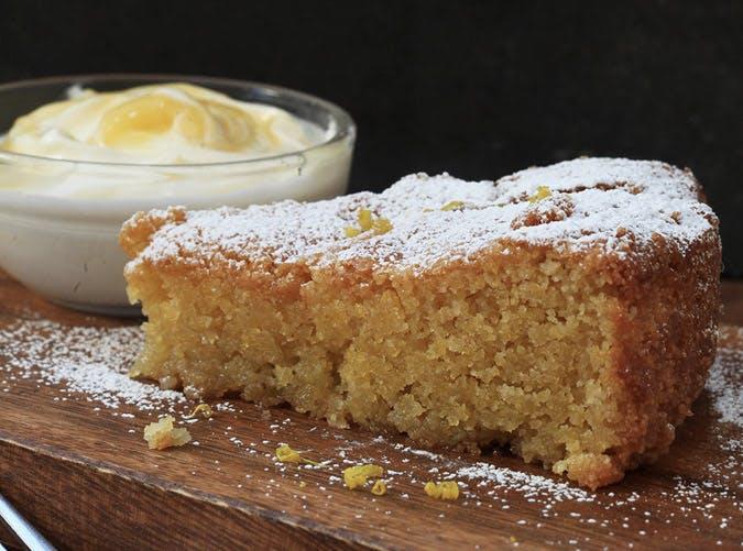 nigella lawson polenta cake lemon curd cream 501