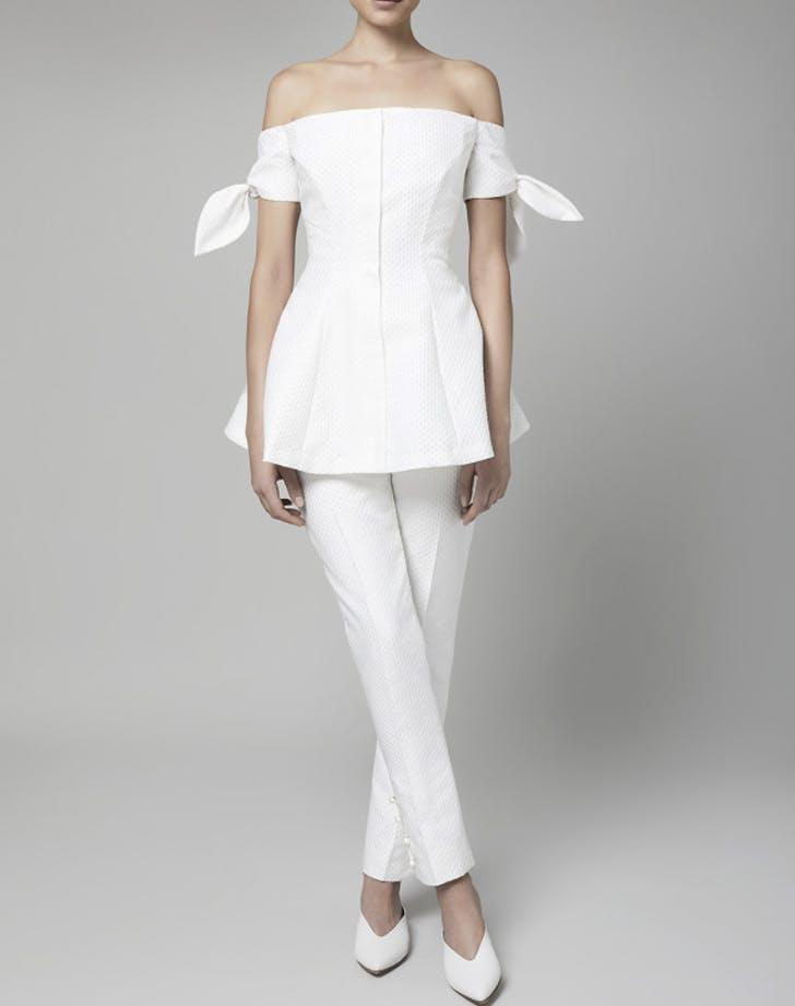 off shoulder bridal top and pants LIST