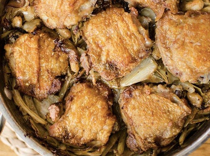 one pot braised chicken cabbage beans 501