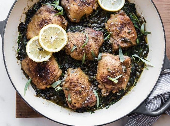 one pot braised chicken kale 501