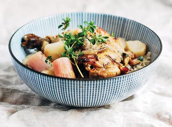 one pot braised chicken turnips radishes 501