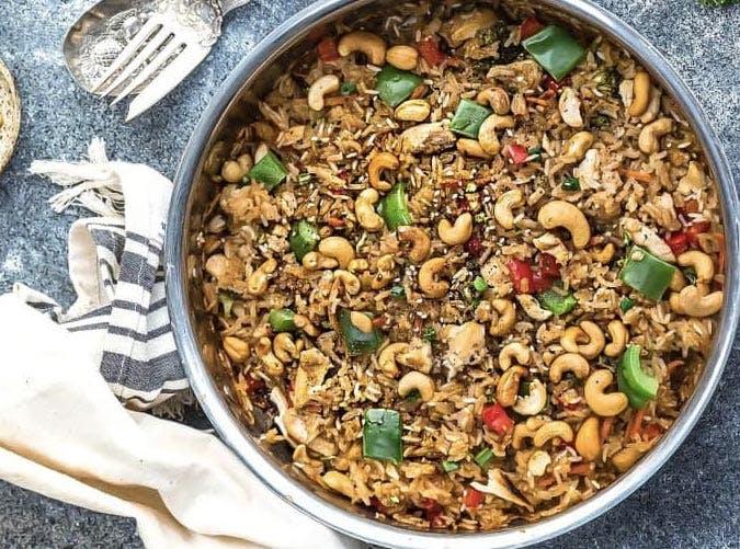 one pot cashew chicken rice 501