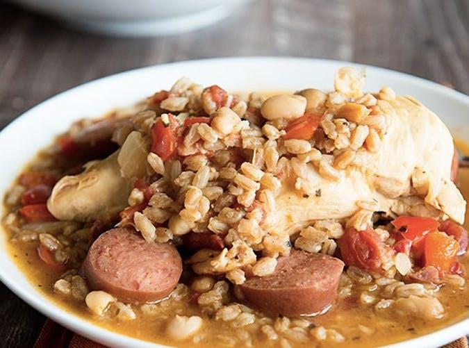 one pot chicken kielbasa beans 501