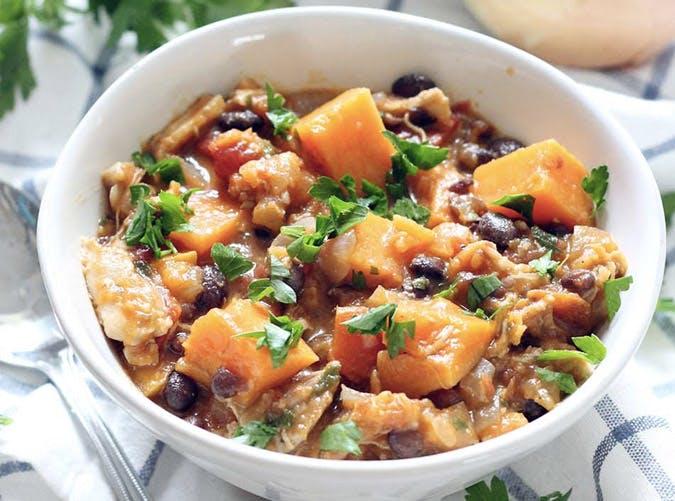 one pot chicken sweet potato bean stew 501