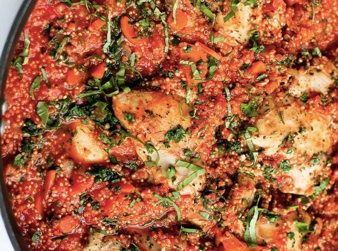 one pot italian chicken quinoa 501