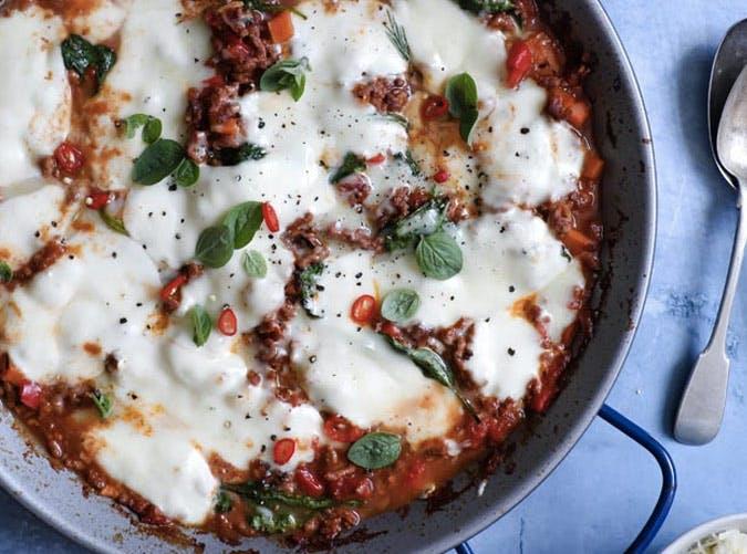 one pot ketogenic beef spinach mozzarella recipe 501
