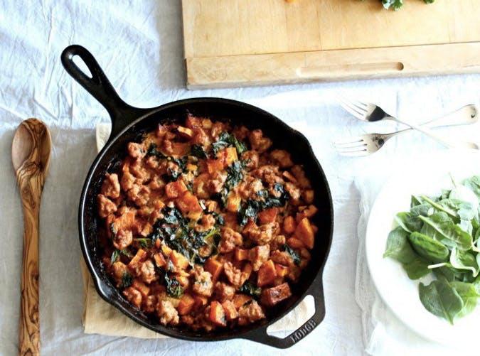 one pot ketogenic butternut squash sausage kale recipe 501