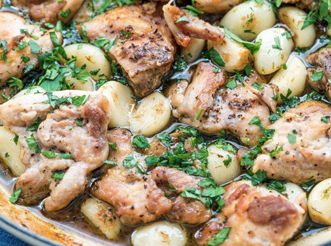 one pot ketogenic chicken 40 cloves of garlic recipe 501