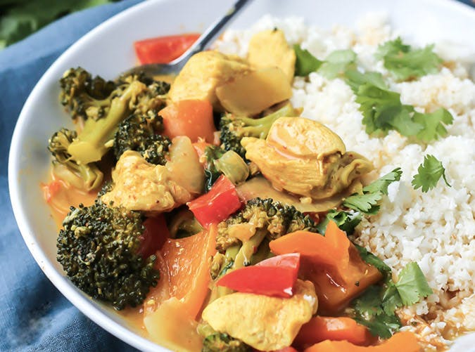 one pot thai coconut chicken curry easy 501