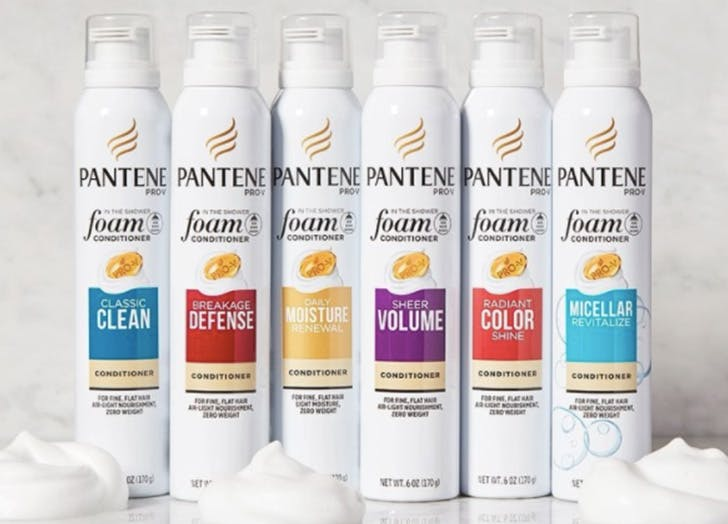 pantene foam conditioner list
