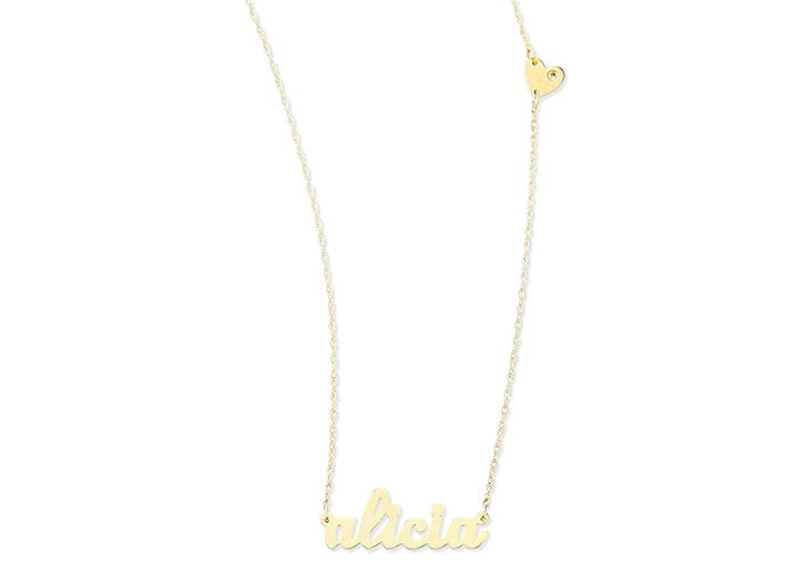 personalized gift nameplate necklace