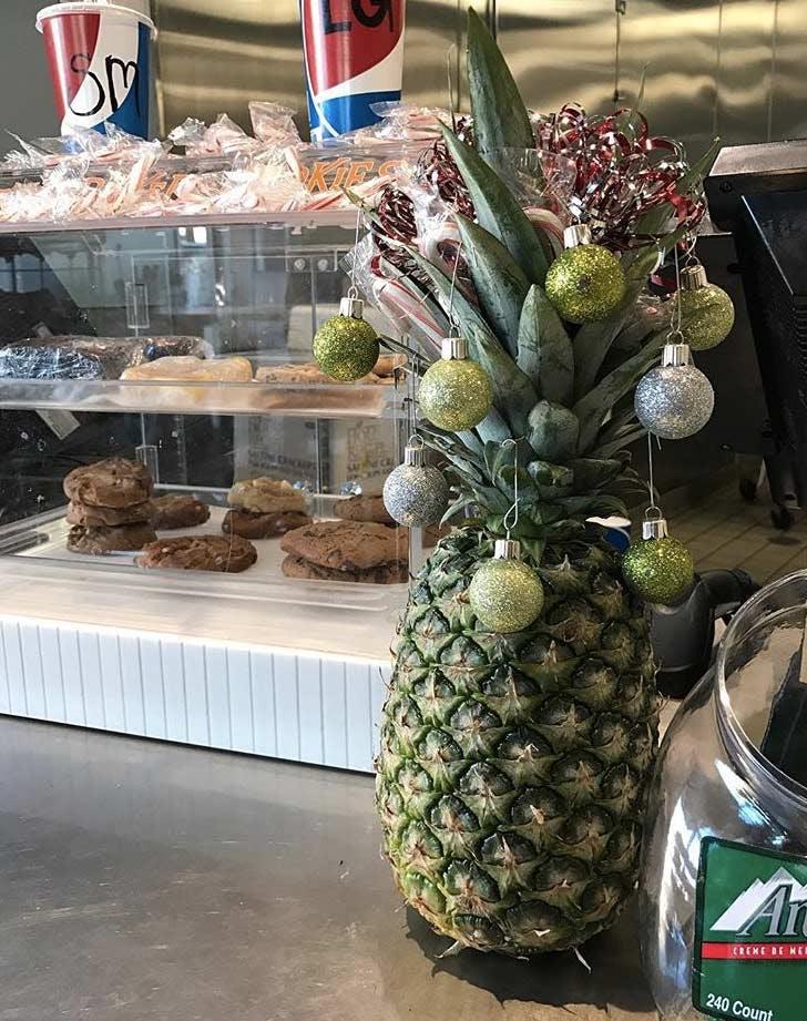 pineapple christmas tree monochromatic green LIST
