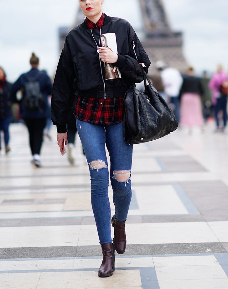 plaid outfits flannel