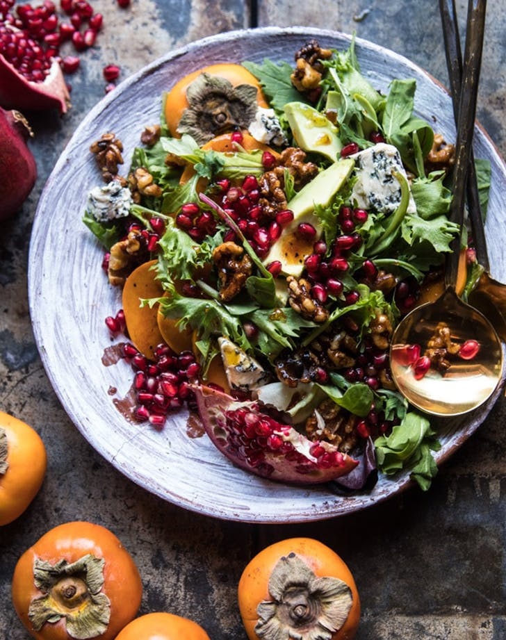 pomegranate avocado fall salad