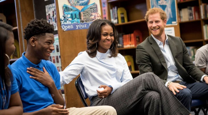 Michelle Obama and Prince Harry Spent Halloween Together and Were So Happy Theyre Pals