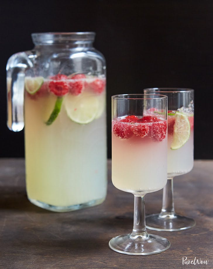 raspberry lime champagne punch recipe