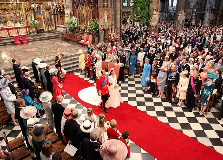 royal wedding church crowds