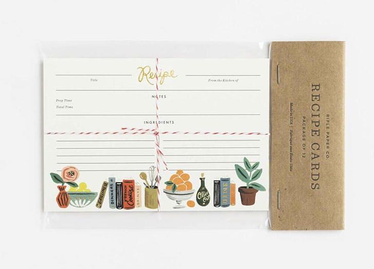 secret santa gifts recipe cards