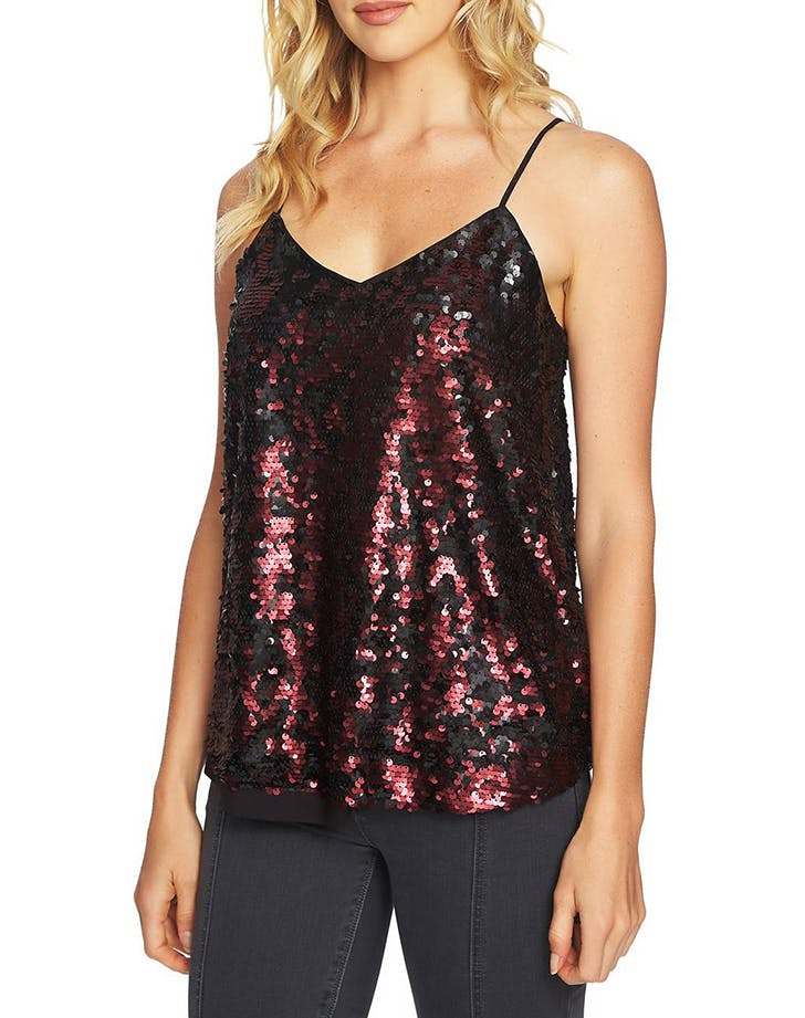 sequined looks camisole