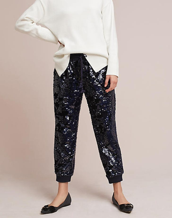 sequined looks jogger pants