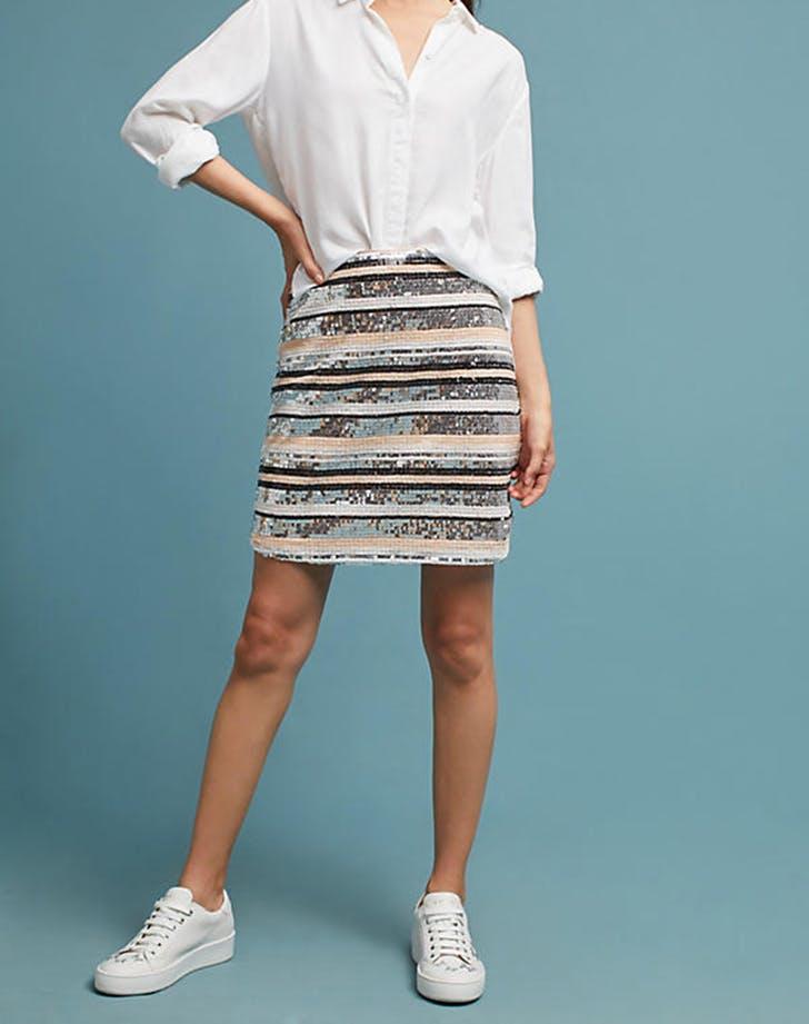 sequined looks miniskirt
