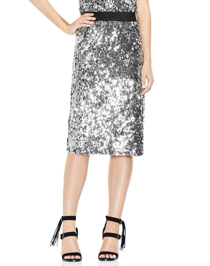 sequined looks pencil skirt