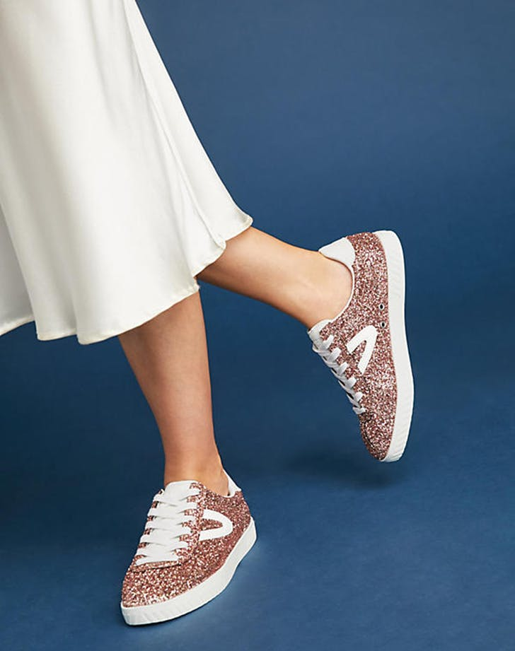 sequined looks sneakers