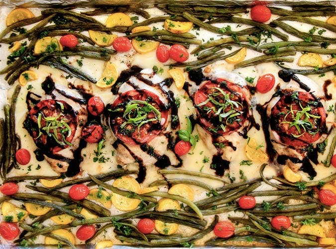 sheet pan chicken caprese recipe 501