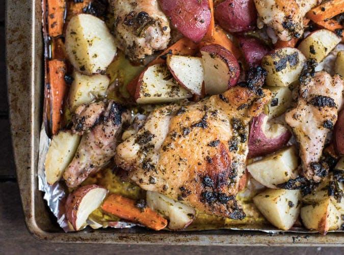 sheet pan pesto chicken and veggies recipe 501