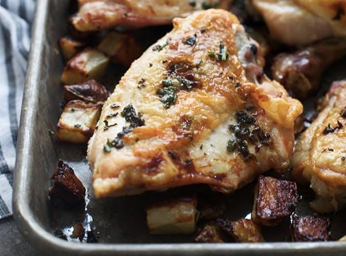 sheet pan sage butter roast chicken recipe 501