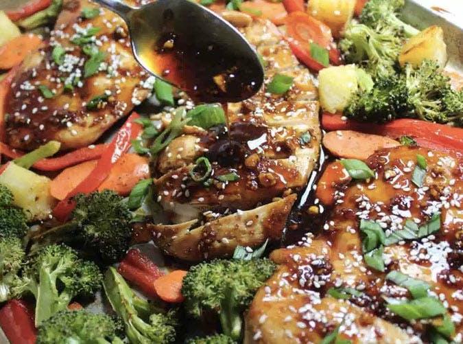 sheet pan sesame chicken teriyaki recipe 501