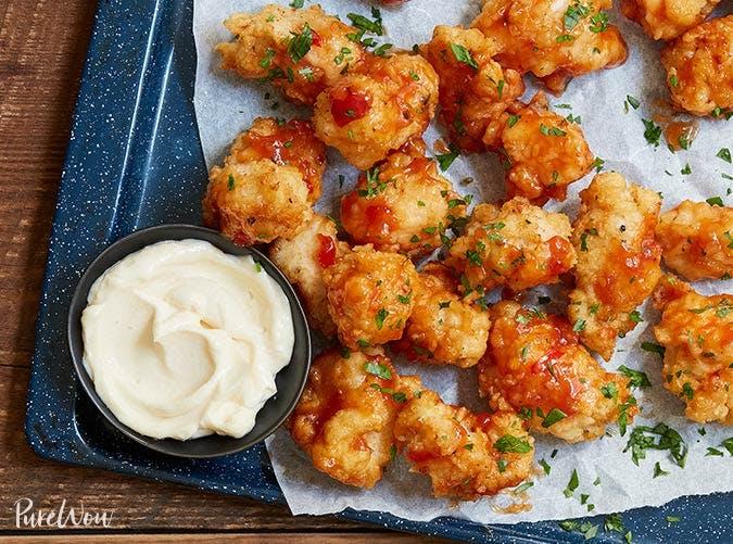 spicy glazed popcorn chicken recipe 501