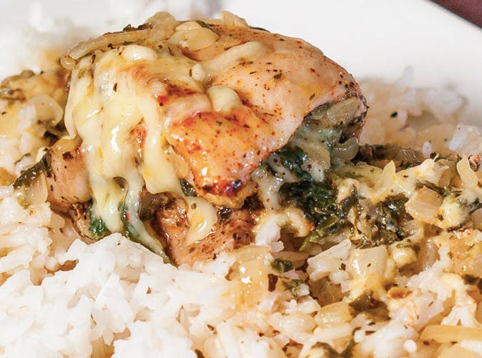 spinach swiss cheese chicken thighs recipe