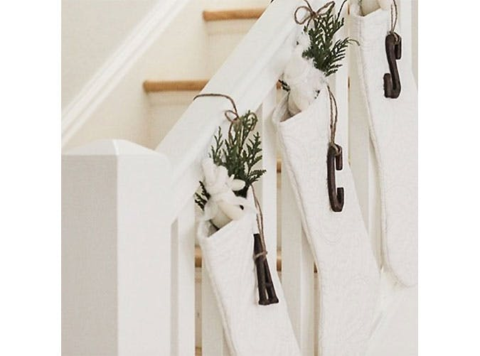 staircasestocking holiday decor