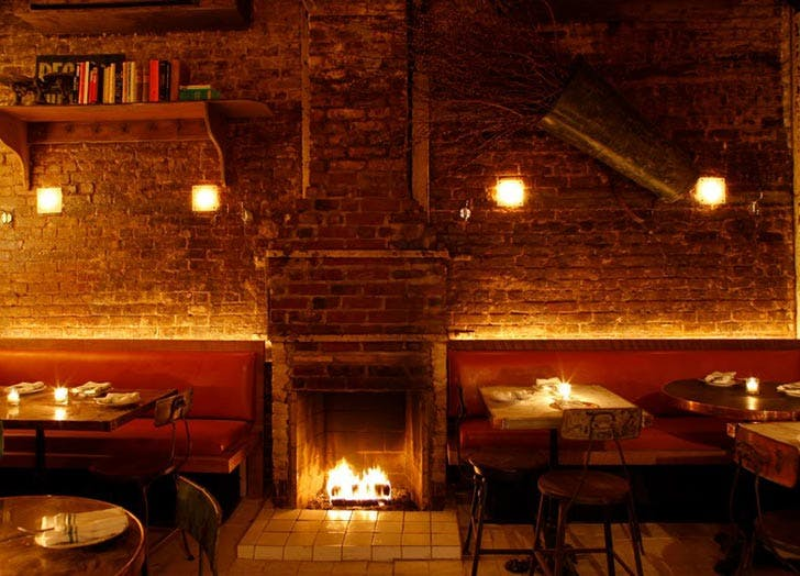 tinys bar upstairs fireplace bars NY
