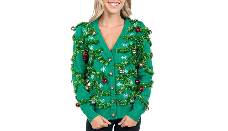 tipsy elf ugly christmas sweater cardigan