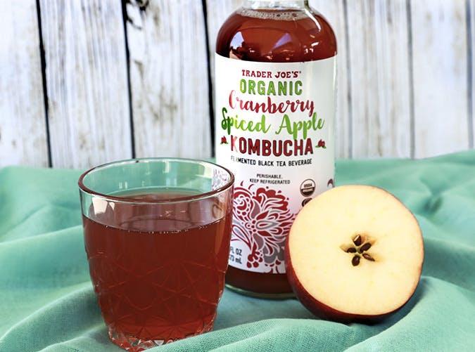 trader joes cranberry spiced cider kombucha 501