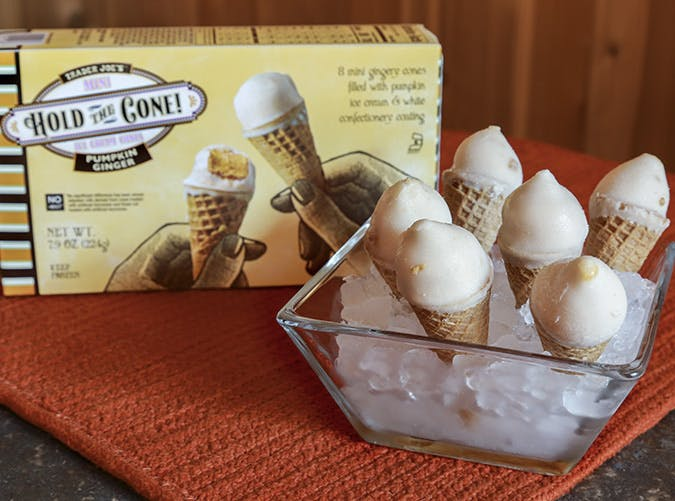 trader joes pumpkin ginger hold the cone 501