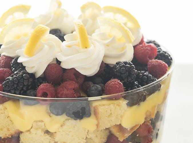 trifle lemon berry