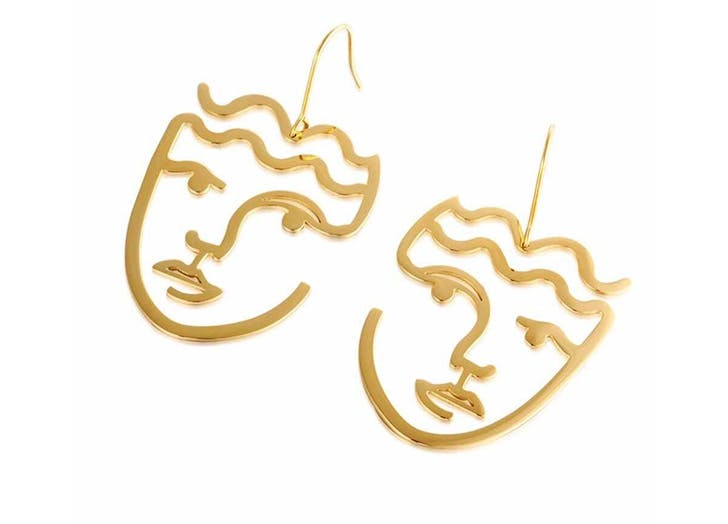 under 50 gift guide face earrings
